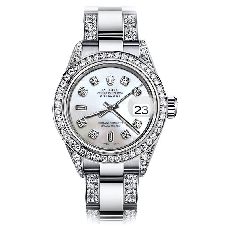 "Image of ""Rolex Datejust Two Tone Stainless Steel Diamond White Dial Diamond"""