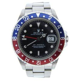 Rolex GMT-Master II 16710 Stainless Steel Sel Oyster Black Blue Red Pepsi Watch