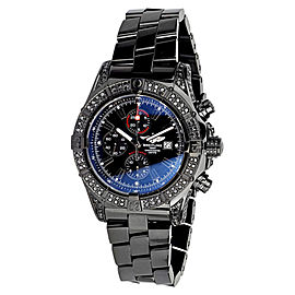 Breitling Super Avenger Chronograph Stainless Steel Black PVD Coating Watch