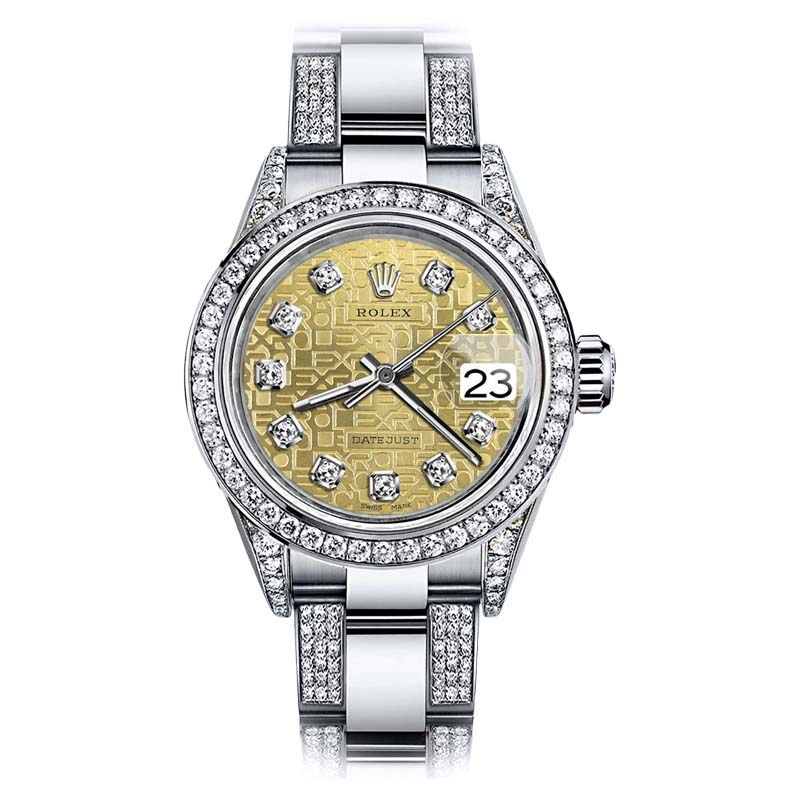 """Image of """"Rolex Oyster Perpetual Datejust Stainless Steel Gold Jubilee Diamond"""""""