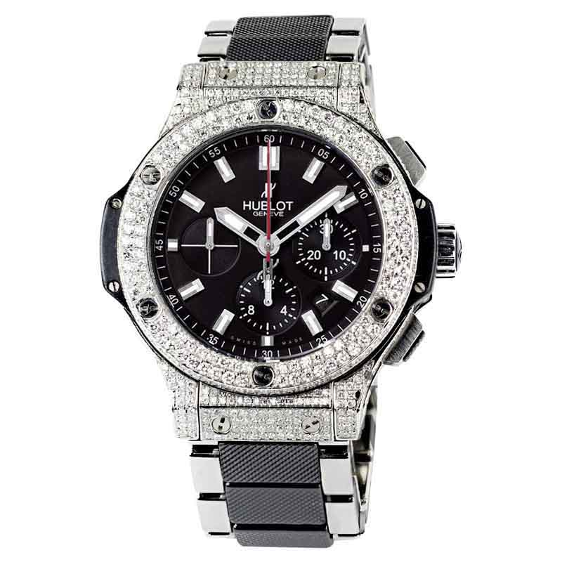 "Image of ""Hublot Big Bang 301.sb.131.sb Steel Ceramic Black Dial Mens Watch"""