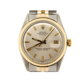 Rolex Datejust 1601 14K Yellow Gold & Stainless Steel Jubilee With Silver Dial Mens Watch
