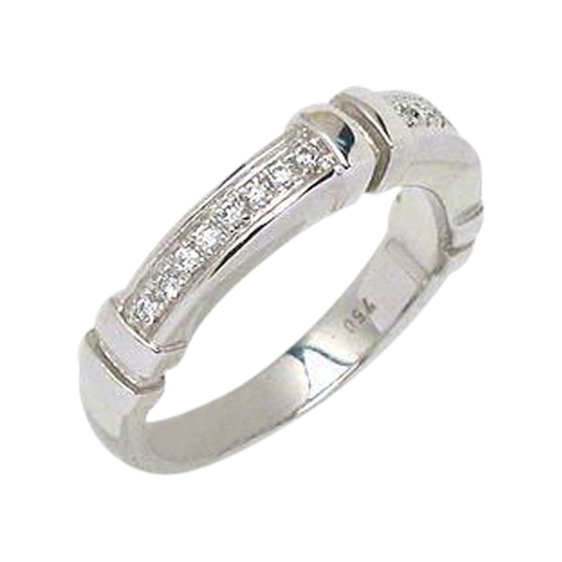 "Image of ""Di Modolo 18K White Gold & Diamonds Wide Band Ring"""