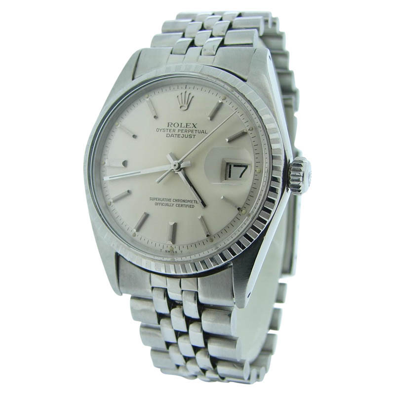 """Image of """"Rolex Datejust 1603 Stainless Steel With Silver Dial & Oval Link"""""""