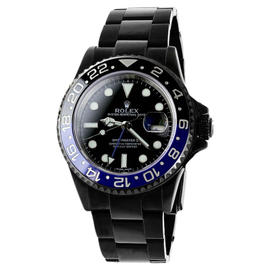 Rolex GMT Master II Batman 116 Stainless Steel Black Dial Mens Watch