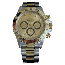 Rolex Daytona 16523 18K Yellow Gold & Stainless Steel Zenith El Primero Mens Watch