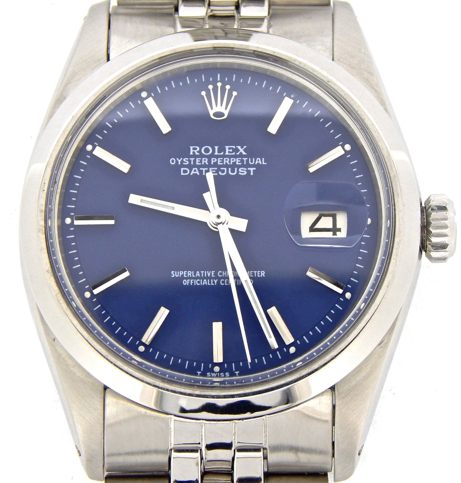 """Image of """"Rolex Datejust Stainless Steel With Blue Dial & Original Jubilee Band"""""""