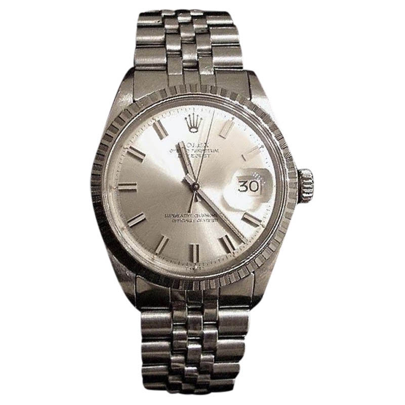 "Image of ""Rolex Datejust 1603 Stainless Steel Jubilee With Silver Wide Boy"""