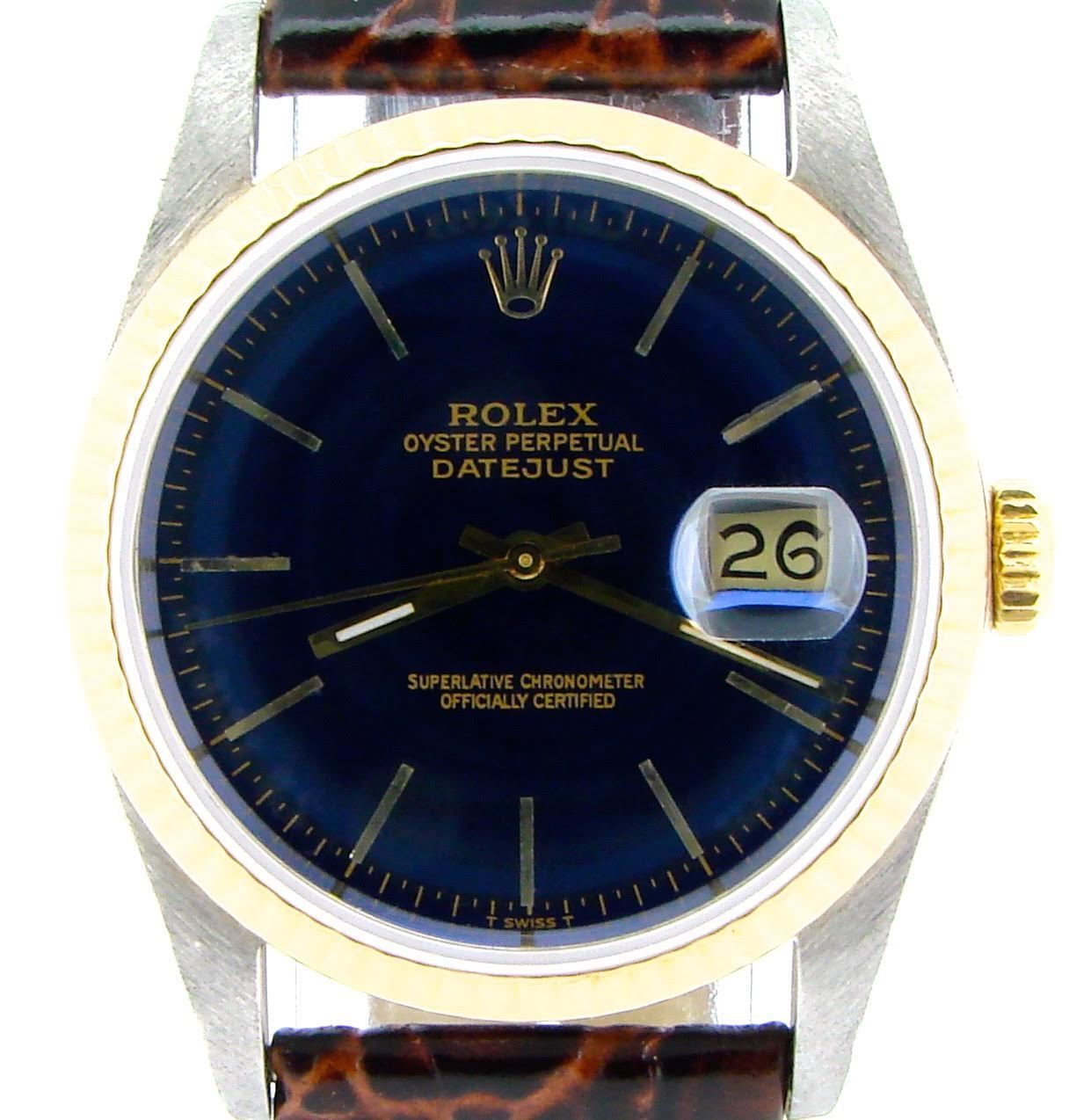 "Image of ""Rolex Datejust 16233 Two Tone 18K Yellow Gold & Stainless Steel Watch"""