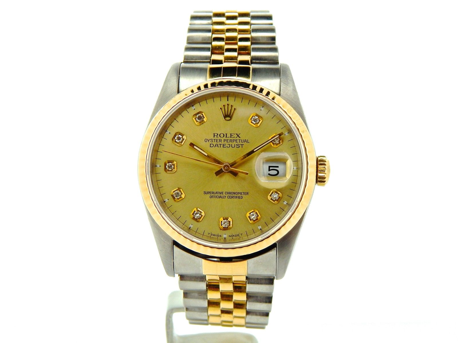 """Image of """"Rolex Datejust 16233 18K Yellow Gold Stainless Steel and Diamond"""""""