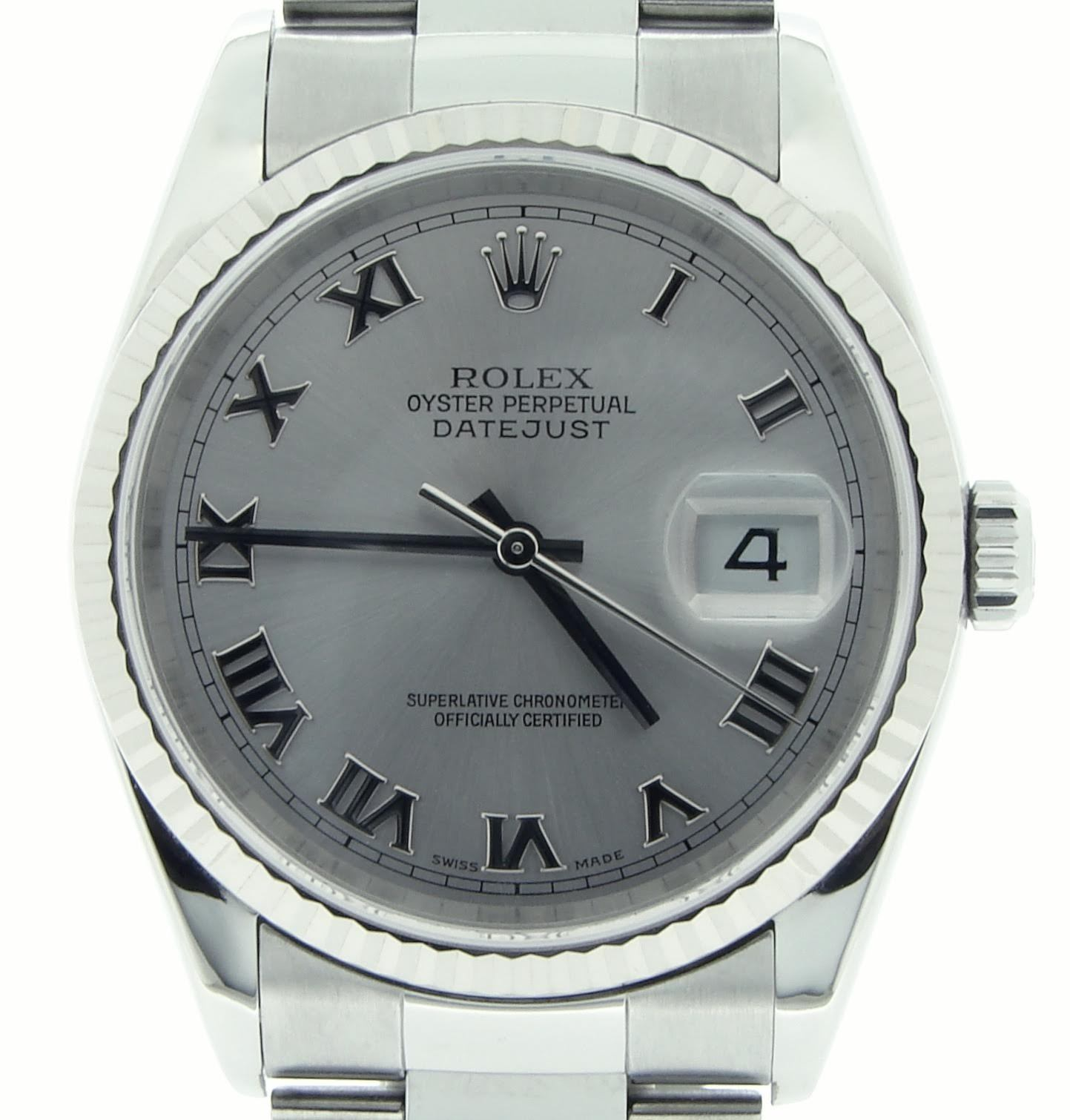 """Image of """"Rolex 16234 Stainless Steel/18K White Gold Datejust Oyster Silver"""""""