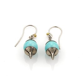 Gurhan GATSBY Amazonite & Sterling Silver Spin Top Style Hook Earrings