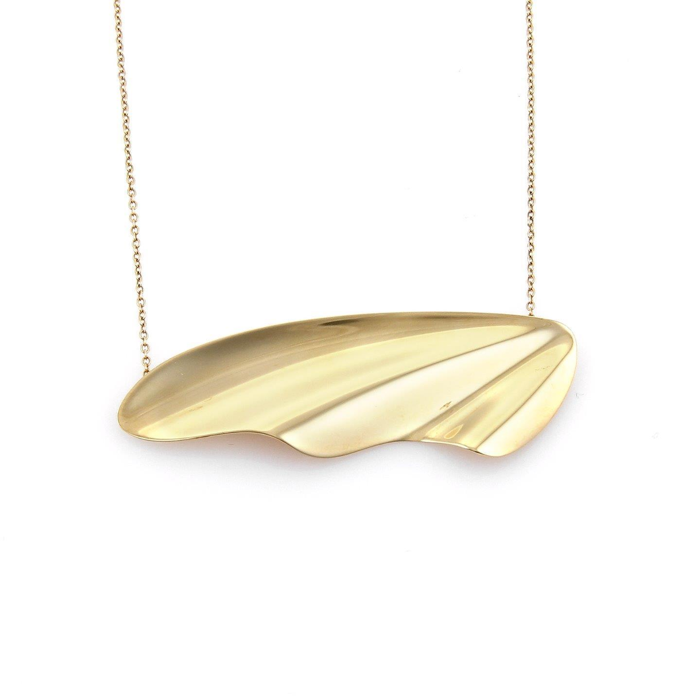 "Image of ""Tiffnay & Co. 18K Yellow Gold Hi Tide Wing Pendant Necklace"""