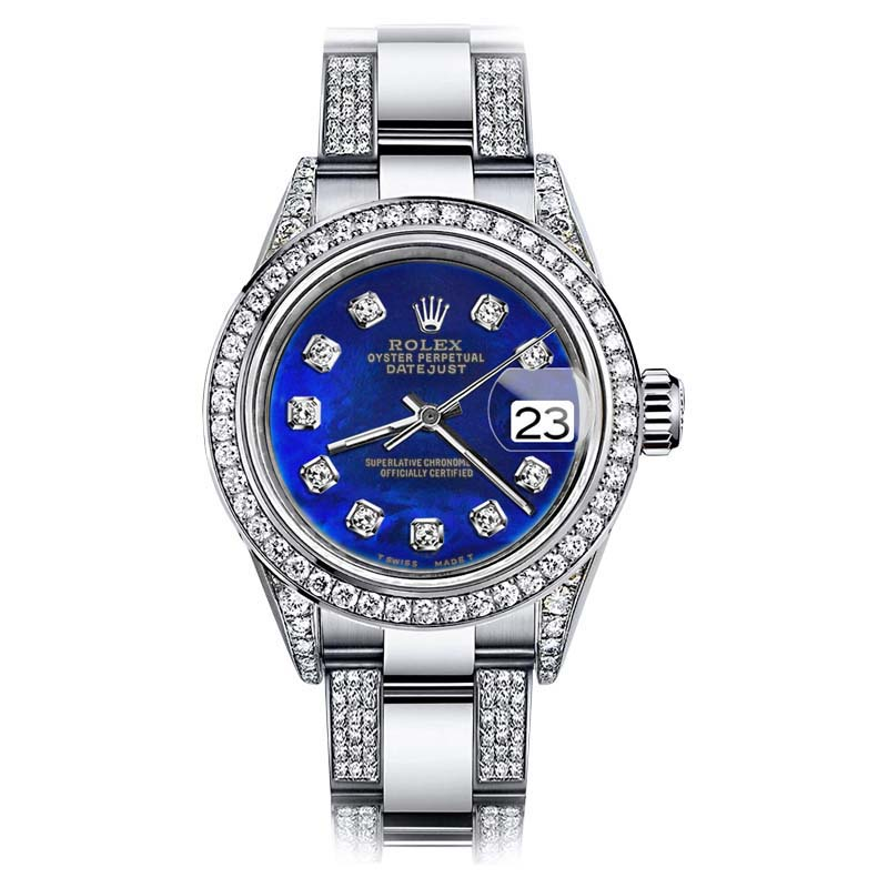 """Image of """"Rolex Oyster Perpetual Datejust Stainless Steel with Diamonds Dial"""""""