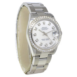 Rolex Datejust 78240 Stainless Steel Mother Of Pearl Diamond Dial/Bezel Womens Watch 31mm