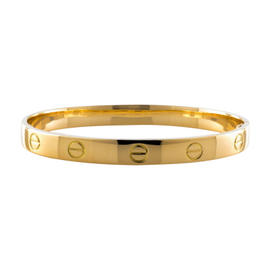 Cartier Love Aldo Cipullo 18K Yellow Gold Bracelet Bangle Size 17
