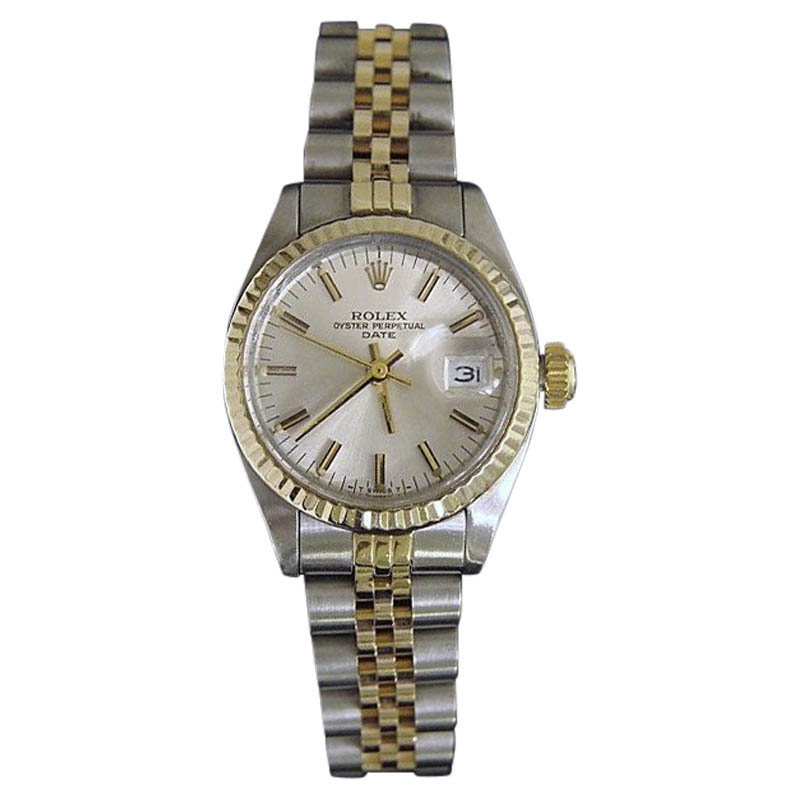 """Image of """"Rolex Date 6917 14K Yellow Gold & Stainless Steel With Silver Dial"""""""