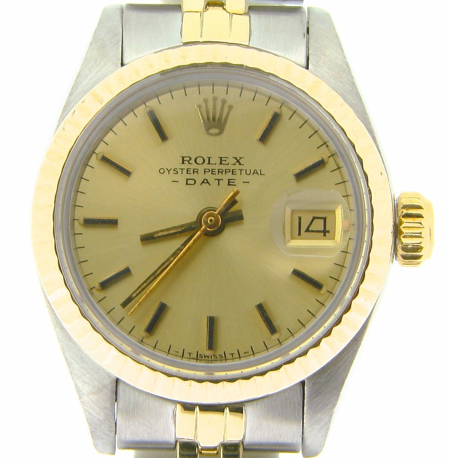 """Image of """"Rolex Date 6917 14K Yellow Gold & Stainless Steel Jubilee Band"""""""