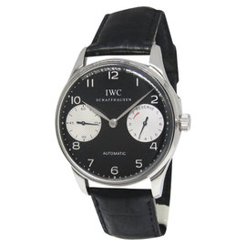 IWC Portugieser 2000 IW5000-001 Stainless Steel Black Dial 42mm Mens Watch