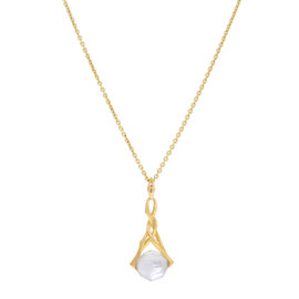Stephen Webster 18K Yellow Gold Pearl Crystal Pendant Necklace