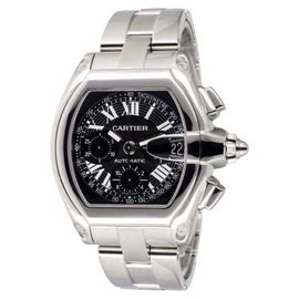 Cartier Roadster 2618 Stainless Steel Automatic Chronograph Movement Mens Watch