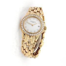 Patek Philippe Nautilus 18K Yellow Gold & 1ct Diamond 27mm Watch