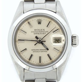 Rolex Datejust 6916 Stainless Steel With Oyster Bracelet Silver Dial Womens Watch