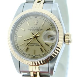 Rolex Datejust Two Tone 18K Yellow Gold & Stainless Steel Womens Watch