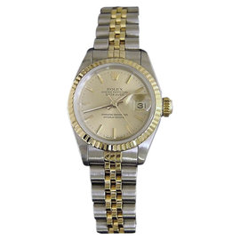 Rolex Datejust 69173 18K Yellow Gold & Stainless Steel Champagne Dial Womens Watch