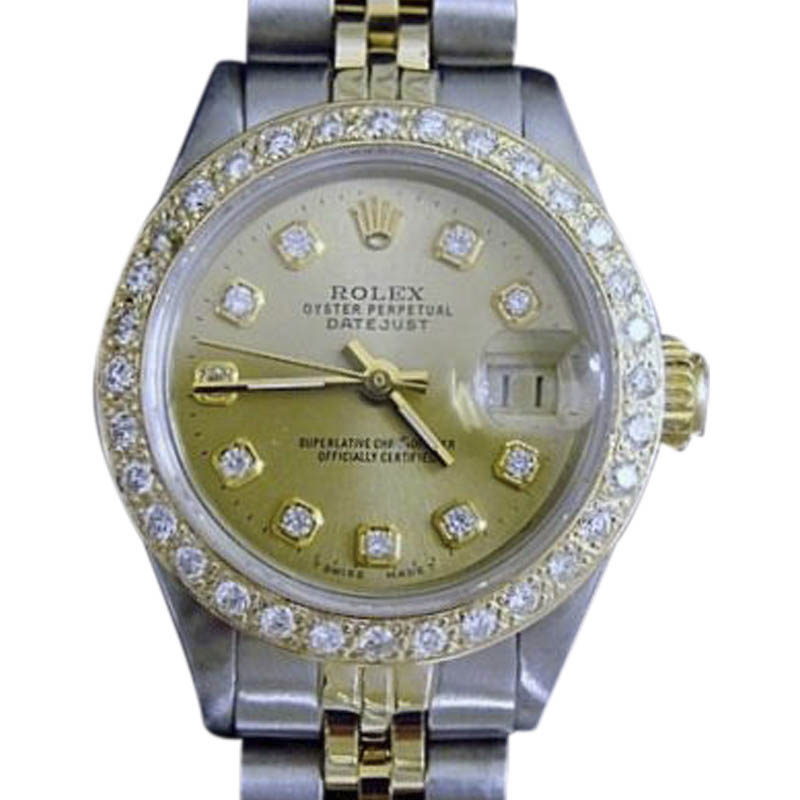 "Image of ""Rolex Datejust 6917 14K Yellow Gold & Stainless Steel With Diamond"""