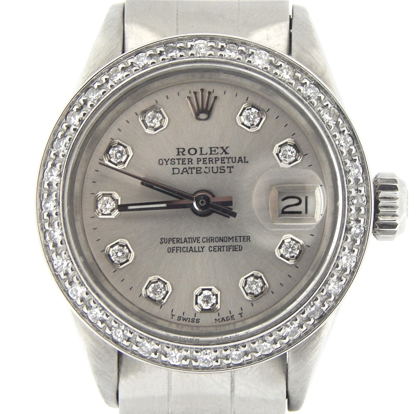 """Image of """"Rolex Datejust Stainless Steel Vintage Womens Watch"""""""