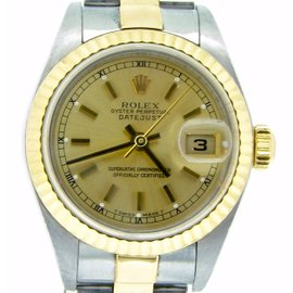 Rolex Datejust 79173 18K Yellow Gold & Stainless Steel Womens Watch