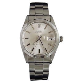 Rolex Oysterdate 6694 Stainless Steel With Silver Dial Oyster Rivet Band Vintage Womens Watch