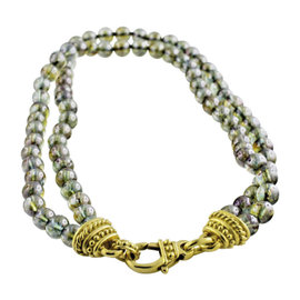 Judith Ripka Double Strand Glass Bead Necklace