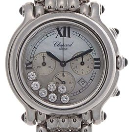 Chopard Happy Sport 28/8267-23 Stainless Steel Mother Of Pearl Dial 38mm Womens Watch