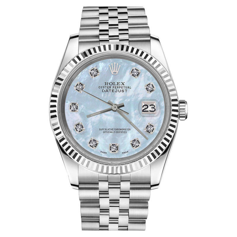 """Image of """"Rolex Datejust Stainless Steel Mother Of Pearl Dial with Diamond"""""""