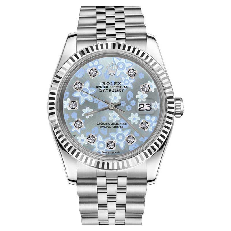 "Image of ""Rolex Datejust Stainless Steel 18K White Gold / Stainless Steel Ice"""