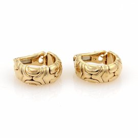Bvlgari Bulgari Parentesi 18k Yellow Gold Semi Hoop Earrings