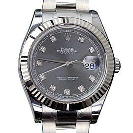 Rolex Datejust II 116334 Stainless Steel Diamond Dial 41mm Watch