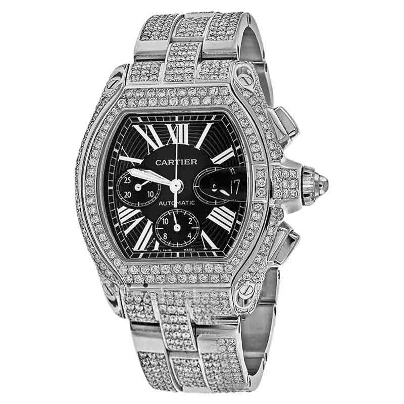 "Image of ""Cartier Roadster W62020X6 Black Dial Stainless Steel 42.8mm Unisex"""