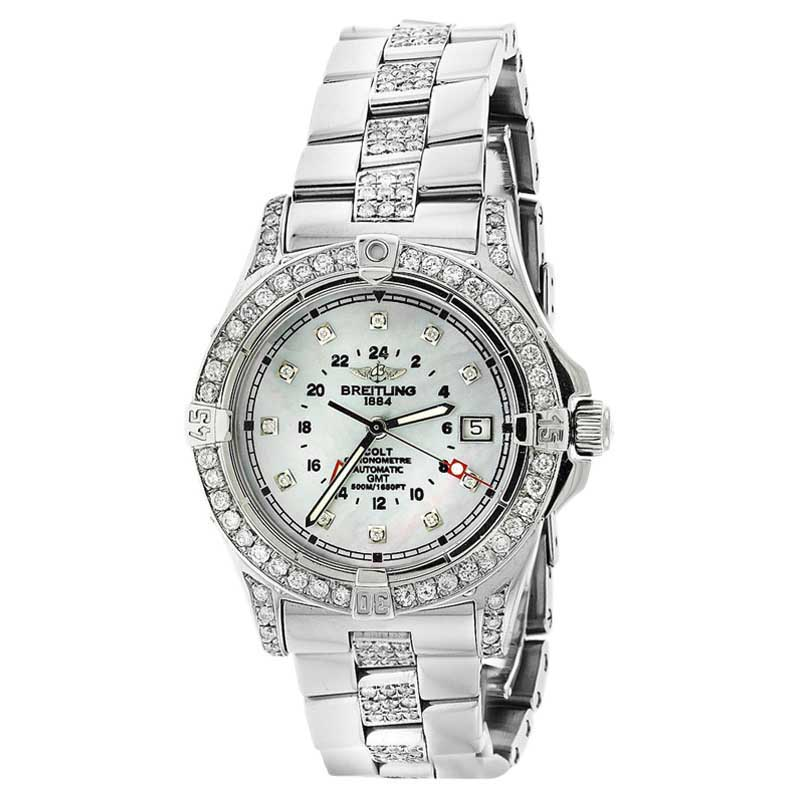"""Image of """"Breitling Colt A32350 Stainless Steel Mother Of Pearl Dial Automatic"""""""