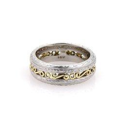 Tacori Platinum & 22K Yellow Gold Band Ring Size 6.75