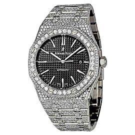 Audemars Piguet Royal Oak 15400ST.OO.1220ST.01 Stainless Steel with Diamonds 41mm Mens Watch