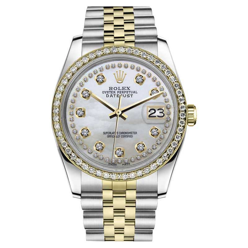 """Image of """"Rolex Datejust 18K Yellow Gold & Stainless Steel MOP & Diamond 26mm"""""""