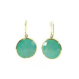 Ippolita Rock Candy 18K Yellow Gold Rutilated Quartz Turquoise Lollipop Earrings