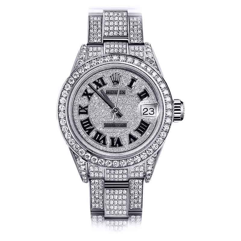 "Image of ""Rolex Datejust Stainless Steel Diamond Roman Dial Oyster Bracelet 31mm"""