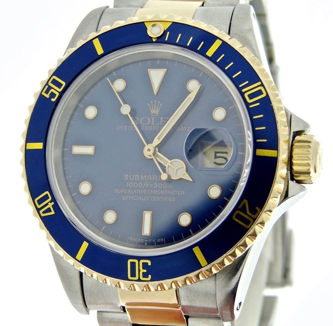 """Image of """"Rolex Submariner 16613 18K Yellow Gold & Stainless Steel Blue Dial"""""""