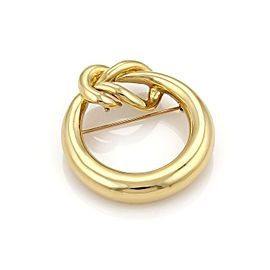 Tiffany & Co. 18K Yellow Gold Sailor Knot Open Circle Pendant Brooch