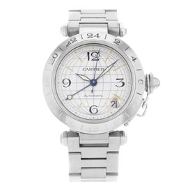Cartier Pasha GMT W31029M7 Stainless Steel Automatic 35mm Unisex Watch