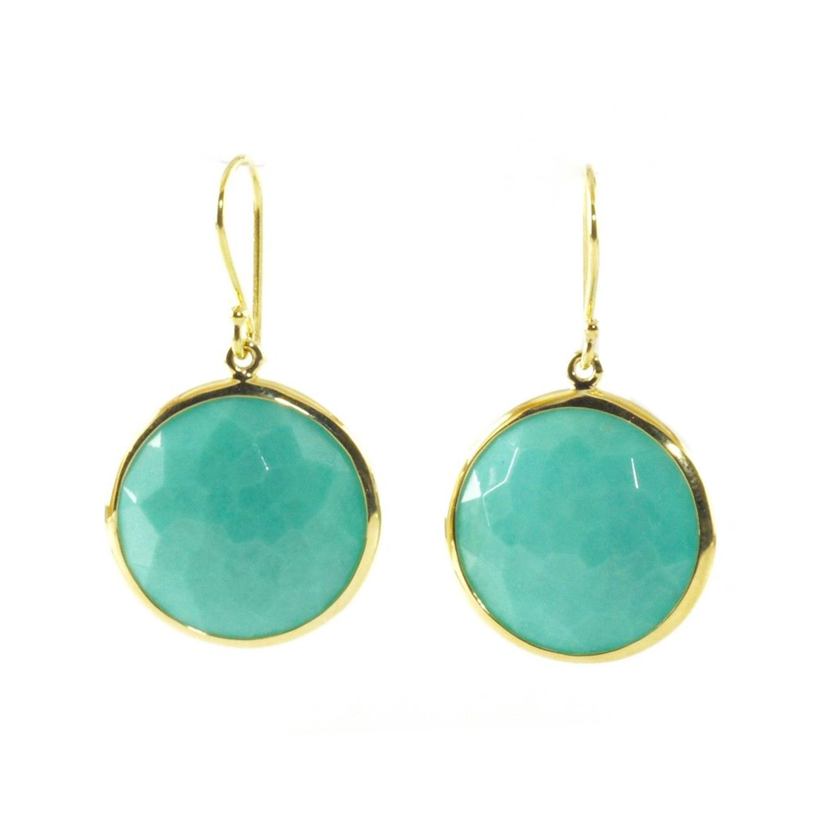 "Image of ""Ippolita 18K Yellow Gold Turquoise Lollipop Rock Candy Drop Dangle"""